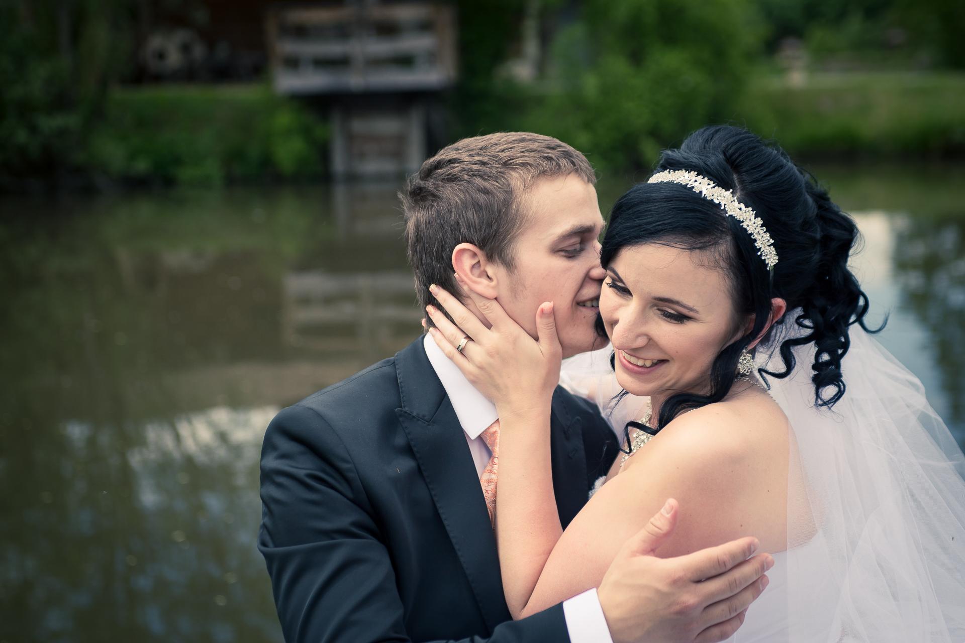 svatební fotografie zamilovaný portrét resort Svět Úžice