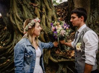 svatba v boho stylu, rustikální svatba, přírodní letní svatba Kokořínsko-186