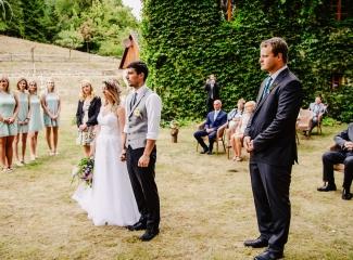 svatba v boho stylu, rustikální svatba, přírodní letní svatba Kokořínsko-43