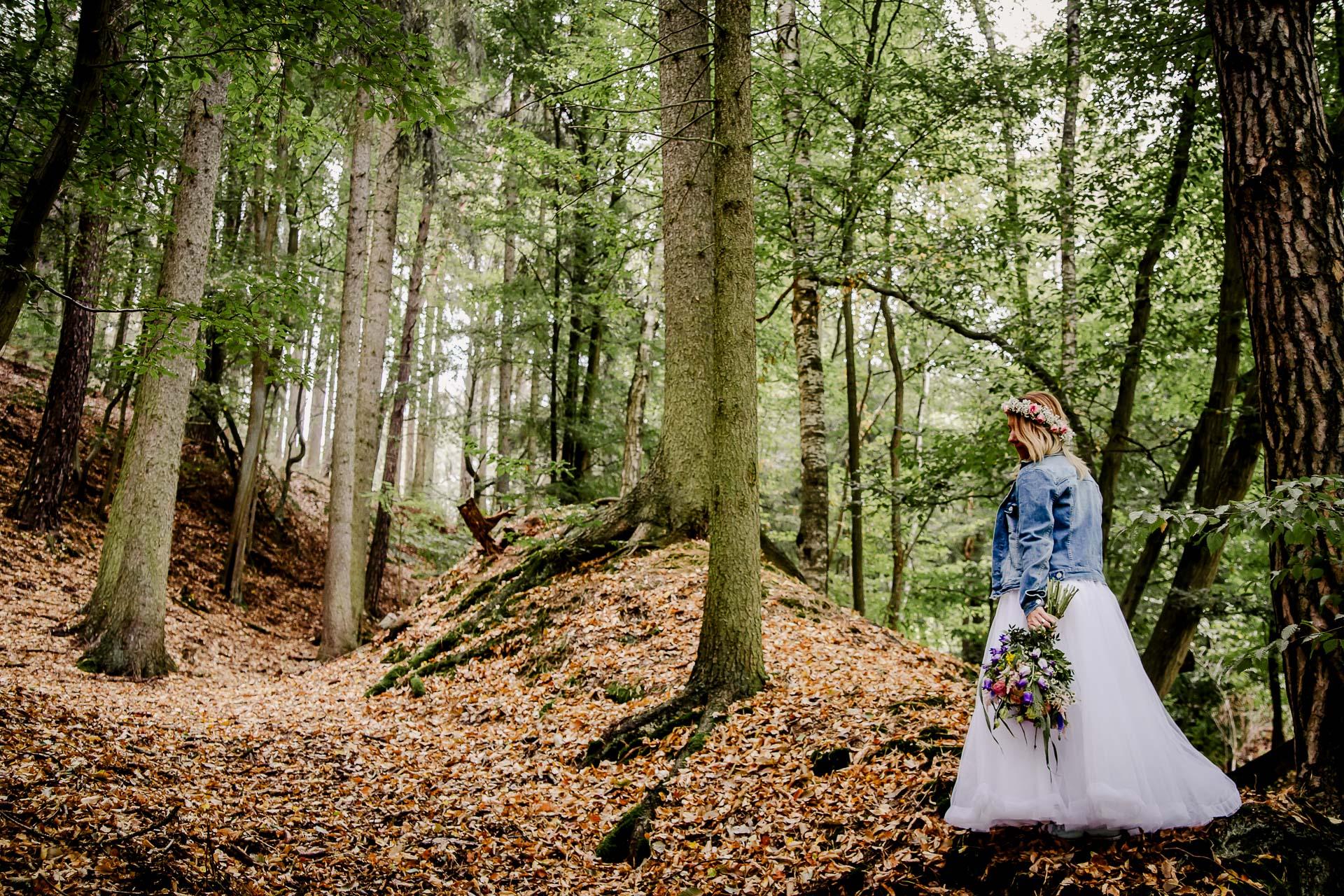 svatba v boho stylu, rustikální svatba, přírodní letní svatba Kokořínsko-172