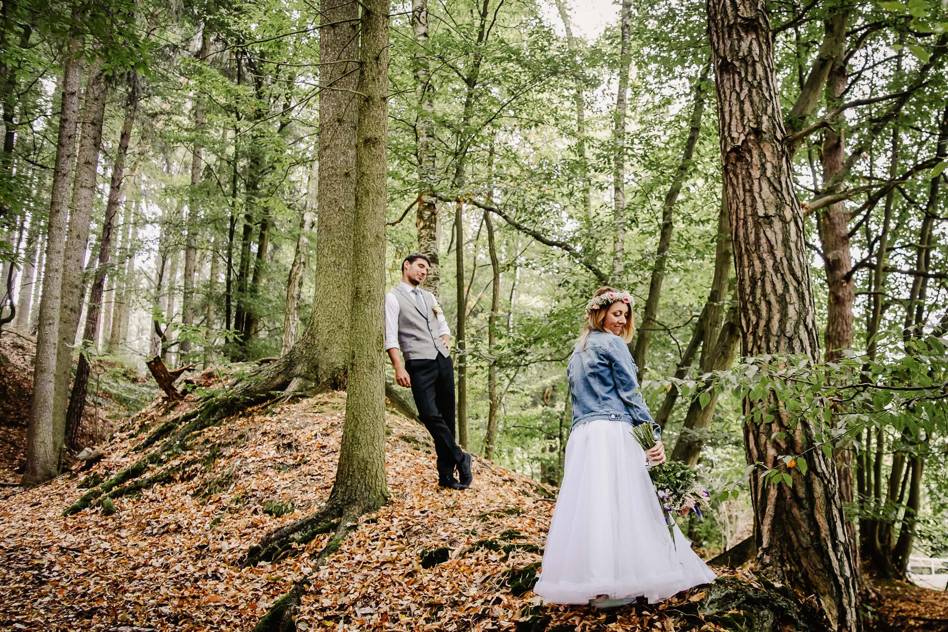 svatba v boho stylu, rustikální svatba, přírodní letní svatba Kokořínsko-175