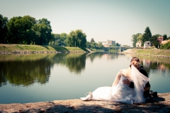 Svatební fotografie Kristýna & Valdimír, Nymburk, Labe, park - Svatební fotograf Studio Beautyfoto