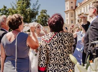 svatební fotograf zámek Mníšek pod Brdy, svatba na zámku, letní nejkrásnější zámecká svatba, Bára a Ondra-59