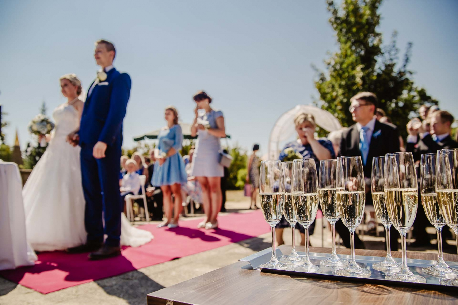 svatební fotograf zámek Mníšek pod Brdy, svatba na zámku, letní nejkrásnější zámecká svatba, Bára a Ondra-35
