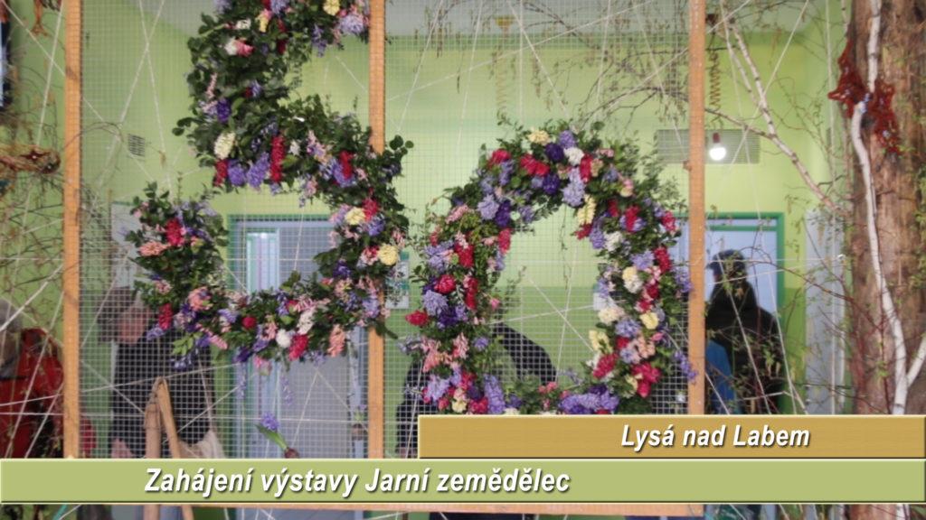 Televizní reportáž ze zahájení výstav Jarní zemědělec, Jaro s Koňmi a soutěž Polabský motýl